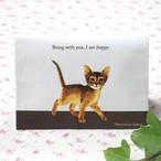 猫 障害者手帳カバー アビシニアン イラスト B