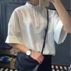【tops】シンプル無地カジュアル簡約合わせやすいトップスシャツ