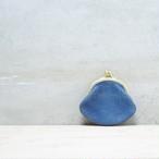 がま口 小銭入れ 猪革 藍染 総手縫い gbi-002