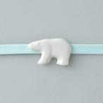 白磁の帯留 シロクマ