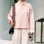 distachable belt pullover knitted 573