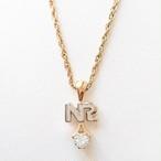 """""""NINA RICCI"""" rhinestone necklace[n-162]"""
