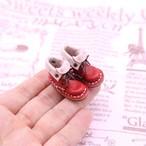 小さな革ブーツ|ストロベリー裏地付