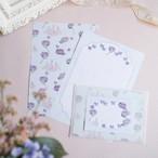 紫陽花のパ・ド・カトルのレターセット