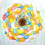 絵画 絵 ピクチャー 縁起画 モダン シェアハウス アートパネル アート art 14cm×14cm 一人暮らし 送料無料 インテリア 雑貨 壁掛け 置物 おしゃれ ロココロ 抽象画 現代アート 画家 : ごま 作品 : バラ