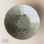 [田中 大喜]緑淡釉 牡丹文鉢