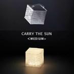 CARRY THE SUN キャリーザサン  Medium 折りたたみ LED ランタン 太陽光充電 軽量 持ち運び コンパクト エコライト キャンプ アウトドア ソーラー パフ モデル チェンジ 商品