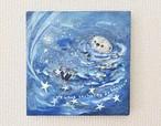 「ラッコと流れ星」ミニキャンバスアート