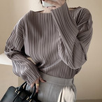 3色 プリーツ ブラウス トップス カットソー レディース ファッション 韓国 オルチャン