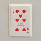 """HAPPY BIRTHDAY"", トランプのグリーティングカード, bgc_001"