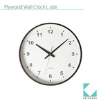 KATOMOKU plywood wall clock km-35L