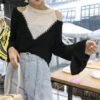 retro bell sleeve knit 2859