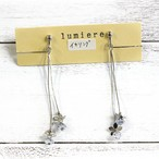 【lumiere.y8】宝石花のロングイヤリングイヤリング