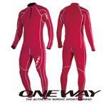 ONE WAY クロスカントリースキー レーシングスーツ ファストキャッチ レッド レース用 ツーピース ow700011-65
