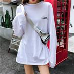 【tops】シンプル配色数字ラウンドネックTシャツ22538593
