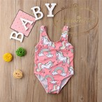子供用 プール 水着 ユニコーン ピンク 女の子 かわいい 海外 スイムウェア