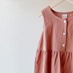 ノースリーブワンピース pink