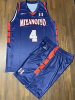 【デザインサンプル】宮之城中学校男子バスケットボール部(U15・男子)昇華ユニフォーム