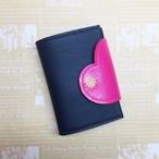 メモポケット付き☆ハートで包み込むミニウォレット(財布)