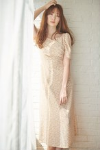 Cherry Pattern Cache-Coeur One-Piece【Beige / Latte】