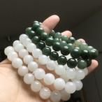 【K様ご予約】濃い緑の翡翠9.5ミリオールブレスレット