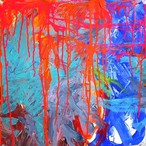 絵画 絵 ピクチャー 縁起画 モダン シェアハウス アートパネル アート art 14cm×14cm 一人暮らし 送料無料 インテリア 雑貨 壁掛け 置物 おしゃれ ロココロ 現代アート 抽象画 画家 : tamajapan 作品 : t-01
