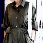 AIR COAT DRESS/OLIVE