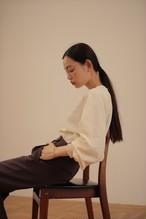midi shirring blouse