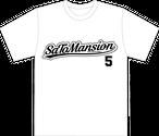 バックプリント5番Tシャツ 白