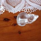 ドイツ ヴィンテージ ガラスの猫 置物 (A)