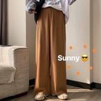 【送料無料】 秋カラー♡ ハイウエスト ドレープ ワイドパンツ カジュアル ズボン ゆるカジ メンズライク