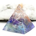 ピラミッド型Ⅱ オルゴナイト アメジスト&ラピスラズリ&フローライト