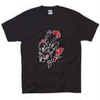 Fall In Love With Punk Rock Tee(Black / Red)