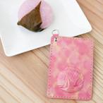 カードサイズの丸鯛パスケース(桜染め)
