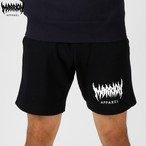 MARRION APPAREL LOGO SWEAT SHORTS (Black)