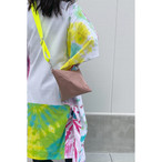 【sandglass】triangle bag(S)pink beige / 【サンドグラス】トライアングル バッグ(S)本体 ピンク ベージュ