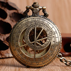 星図盤☆手巻き式高級懐中時計☆スケルトン