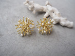coral tsubu pearl pierce/earrings
