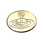【VINTAGE Vivienne Westwood BUTTON】ゴールド ロゴ ボタン(大)