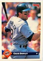 MLBカード 93DONRUSS Craig Shipley #206 PADRES