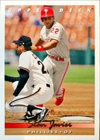 MLBカード 93UPPERDECK Stan Javier #249 PHILLIES
