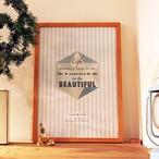 グラフィック・ポスター「Life not to be perfect to be beautiful」