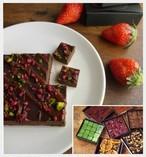 【バレンタイン限定】しなのおりひめ苺のビーガン生チョコレート ※乳製品、乳化剤、白砂糖不使用