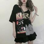 【tops】プリントファッションアルファベットTシャツ21532189
