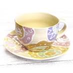 【モリーさん】幾何学花柄カップ&ソーサーセット/マグカップ