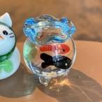 ミニチュアガラスの金魚鉢