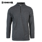 EVENRIVER   Soft dry zip high neck
