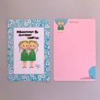 POST CARD「こけもも双子」no.136