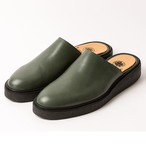 leather mule/BLK,GRN/LIBERTAS/LIB18-1L1M01【即納】