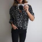 leopard shirt /black